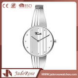 Reloj de cristal mineral unisex impermeable del acero inoxidable de la manera