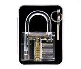 Cadenas transparent de pratique avec des outils de Lockpicking de traitement en métal 15PCS (combo 3)