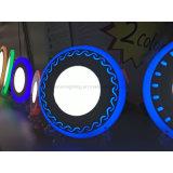 Luz del panel bicolor redonda del panel 12+4W LED