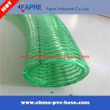 Le fil fin a tressé boyau renforcé par spirale transparente de fil d'acier de PVC/claire