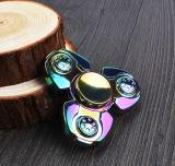 성숙한 Anti-Stress를 위한 무지개 두개골 Torqbar 금속 세 배 방적공 자이로컴퍼스 장난감