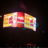 Indicador de diodo emissor de luz ao ar livre do vídeo de cor P6 cheia para anunciar a tela
