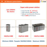 batterie de gel de 2V 3000ah pour des télécommunications (CE ISO9001 ISO14001 RoHS)