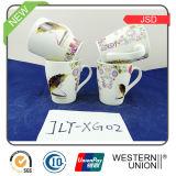 Tasse intéressante du café 14oz de porcelaine de modèle de forme