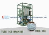 Fabricante refrigerado por agua del tubo del hielo para la fábrica de hielo del tubo