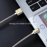 모든 셀룰라 전화를 위한 빠른 비용을 부과 1 미터 얼룩 강철 마이크로 컴퓨터 USB 케이블