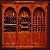 別荘の贅沢なマホガニーのワインの家具のキャビネットラック(GSP19-009)