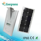 Integrated/tudo em uma luz de rua solar do diodo emissor de luz para a iluminação ao ar livre