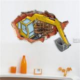 Etiquetas engomadas movibles de la pared de las etiquetas engomadas de Kong Kim 3D
