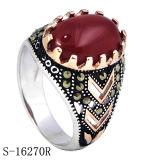 Nieuw Ontwerp 925 de Zilveren Ring van Juwelen met Granaat CZ