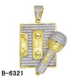 형식 보석 925 은 힙합 보석 남자의 매력 금은 도금했다