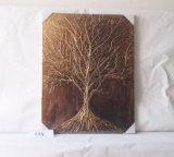 شاهق شجرة [بروون] نوع خيش منزل صورة زيتيّة زخرفيّة