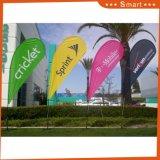 Promozione di vendita calda che fa pubblicità alla bandierina di spiaggia di volo della piuma del Teardrop di stampa
