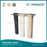 Long sachet filtre PTFE de l'eau et de pétrole de vie utile de tissu enduit antistatique de polyester de l'épreuve