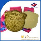 Medaglia su ordinazione di sport della medaglia di oro di figura del cuore del metallo con il nastro