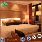 Jogo de luxe da mobília do quarto do hotel da madeira contínua do preto da série do negócio