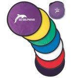 Disque professionnel fait sur commande de vol de cadeaux de promotion, frisbee pliable