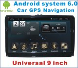 Carro Android DVD do sistema 6.0 para o universal da VW 9 polegadas com estéreo do carro DVD GPS