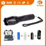 강력한 Xml-T6 18650 재충전용 LED 플래쉬 등