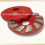 다이아몬드 공구 두 배 줄 가는 컵 바퀴는 톱날을
