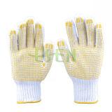 Points industriels de PVC de gants de main de coton de Protedting de qualité