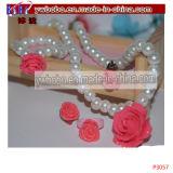 セットされる女の子の結婚式の真珠のネックレスのイヤリングのブレスレットの子供の宝石類(P3063)