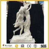 白い大理石像、大理石の彫刻、石造りの庭の彫刻