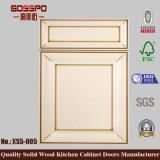シンプルな設計の白いペンキの木の食器棚の振動ドア(GSP5-005)
