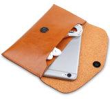 Кожаный бумажник мобильного телефона в случай iPhone6 с кредитной карточкой прорезает случай телефона бумажника