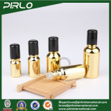 botella de cristal de la carga rodada cosmética de la botella del petróleo esencial del color del oro de 5ml 10ml 15ml 20ml 30ml 50ml 100ml