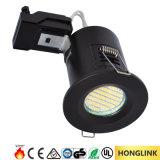 Éclairage LED évalué d'effet d'incendie GU10 d'incendie de RoHS 90mins de la CE