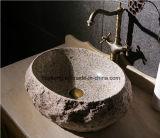 Lavabo de la piedra del cuarto de baño del moho de Vietnam