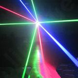 8 ojos ponen verde la luz laser de la araña principal móvil de la etapa de DJ