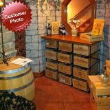 Système de stockage de cave de crémaillère de vin en bois et en métal de transfert