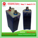 Hengming 1.2V90ah Kpm90の小型のタイプニッケルカドミウム電池のKpmシリーズ(NICD電池)充電電池