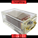 8 - Plataformas que engrossam o cartão acrílico do póquer que emite o suporte com fechamento Ym-Sh01