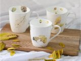 Tasse à café en grès glacé personnalisé 12 oz