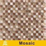 het Mozaïek van het Kristal van de Mengeling Travertino van 8mm voor de Reeks van de Mengeling van Travertino van de Decoratie van de Muur (Travertino Mengeling 01/02/03/04)