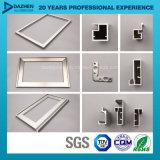 Aluminiumstrangpresßling-Profil für kundenspezifischen Küche-Schrank-Griff mit glattem Pinselmatt-Silber
