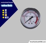 高品質1.6%の最下の接続のオイルの満たされた圧力計