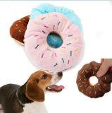 사랑스러운 애완 동물 Squeaker 견면 벨벳 도넛 장난감