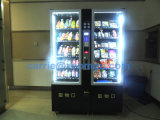 2016 negro mini bebidas frías y bocadillos máquina expendedora combinada