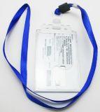 Détenteur de carte de PVC d'OEM avec la courroie de collet de lanière