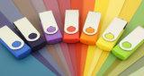 Twister plástico Pendrive da etiqueta do USB do giro