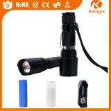Taschenlampe Ningbo der Kongjia super helle Aluminiumlegierung Zoomable Fackel-LED