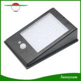 400lm LED太陽動力を与えられたPIRの動きセンサーの街灯は24番のLEDの壁ランプの庭ライト3モードのつけを防水する