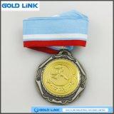 Le métal ouvre des médailles d'offensive terrestre de métiers de coutume de médaille de sports