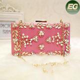 Mais recente Design Pearl Handbags Mulheres Fancy Evening Clucth Bag com Cadeia para Lady Eb794