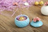 Contenitore di monili di ceramica colorato rotondo del fiore (CC-17)