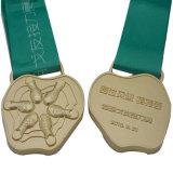 Medaglia corrente su ordinazione di sport dell'oro di stuoia 3D con le sagole